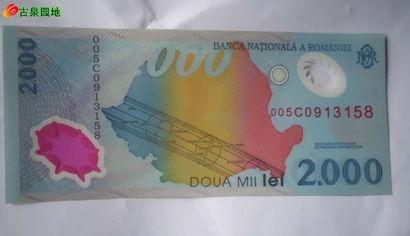 ...的塑料钞和一张台币100元