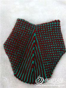 毛线棉鞋的织法