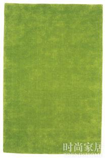 翠绿色的地毯为灰白色的客厅增添了勃勃生机.-简洁硬装丰富软装 更...
