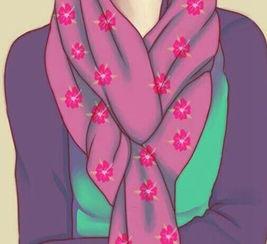 方丝巾系法教程