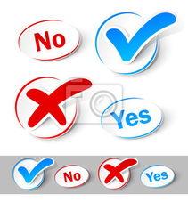 ...k mark Yes and No -检查标记是不