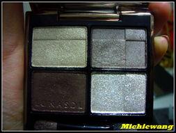 左上:淡米金色带细闪右上:浅灰褐色带珠光左下:深褐色,看上去也...