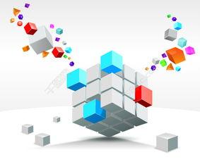 矢量方块元素背景设计矢量图免费下载 eps格式 编号26642262 千图网