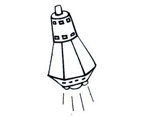 ...宇宙飞船简笔画作品 宇宙飞船怎么画 关于宇宙飞船的儿童绘画图片 ...