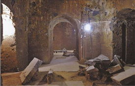 to the village after reading reports about the tomb.  The front chamber