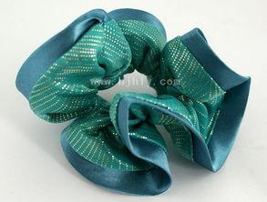 Diy手工发绳头饰蝴蝶结发夹双色盘扣发饰的做法