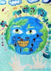 我是地球小卫士 儿童画水粉画作品