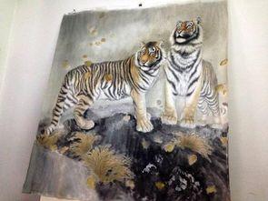 ...画的绘画过程 工笔画老虎白描步骤与技法