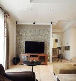 客厅电视背景墙壁纸装修效果图大全-电视背景墙壁纸大全