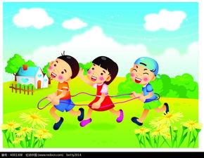三个玩耍的小孩子韩国人物插画AI素材免费下载 编号4001308 红动网