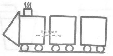 火车简笔画怎么画图解教程