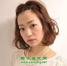 短中分刘海编发 轻熟女潮感的编发发型
