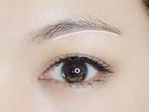 我习惯先画眉底线,顺着上图的白线,用眉笔按照眉毛生长的方向一根...