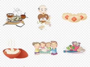 卡通手绘饺子水饺煎饺冬至美味海报素材背景图片PNG