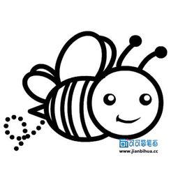 卡通蜜蜂简笔画怎么画
