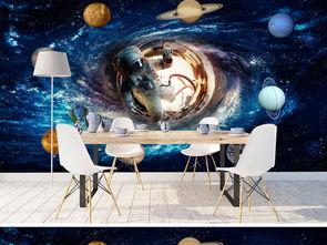 宇宙星空科幻主题太空宇航员小行星壁画壁纸