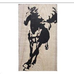 木板雕刻画 马到成功 祝贺礼物