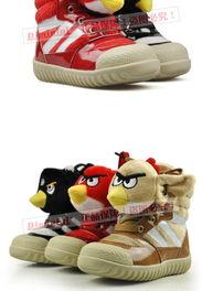 愤怒的小鸟童鞋 2012冬款童靴儿童雪地靴 韩版男童宝宝鞋女童靴子