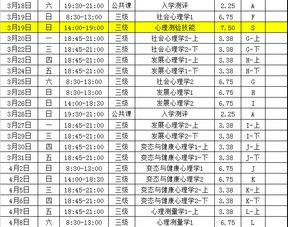 ...三级2016年11月至2017年5月课程总表 -广州心理咨询师考试报名标准