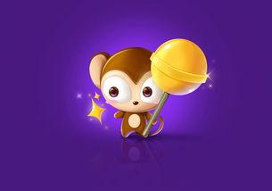 我的原创小猴子 平面 吉祥物 奔跑的皮卡丘