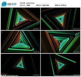 旋转时光隧道穿梭视频素材