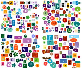 可爱形状装饰26个英文字母图片