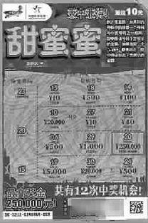 ...投注站,10元面值的即开型体育彩票