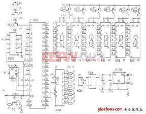 6位LED数码管动态显示电路原理图