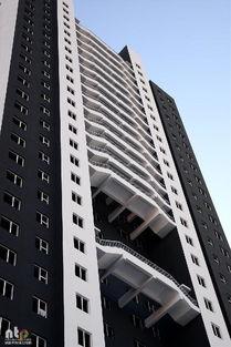 大楼位于沈阳一小区内有30层楼高,楼体的一面包括数十个不间断的消...