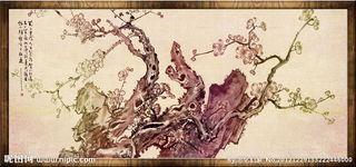 ...品框装仿古山水国画图片