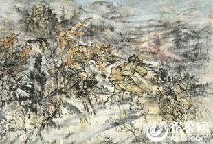 ...《红旗河战斗》朝鲜画-山东文博会将首次展出拍卖众多朝鲜知名艺术...