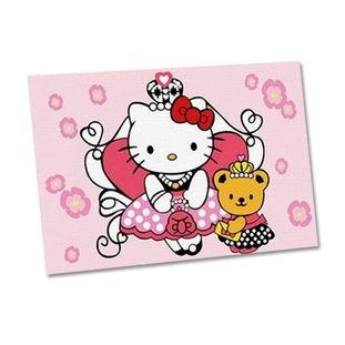 ...油画 KT猫与小熊公主10 15CM