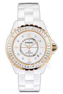 最贵香奈儿日期显示功能镶钻表壳白色表盘女士手表 世界最贵...
