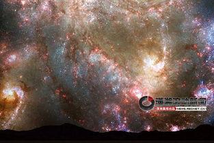(仙女座星系和银河系相撞后,逐渐合并成椭圆形星系.)-40亿年后 仙...