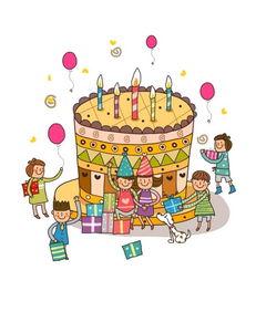 生日蛋糕漫画