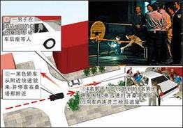重庆老板酒店门口中三枪身亡,枪火照亮车厢