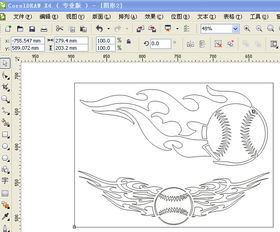 如何使用CDR轮廓线编辑来加粗字体