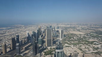 从哈利法塔俯瞰迪拜