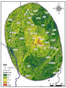 ...震次生地质灾害空间分布预测系列图件