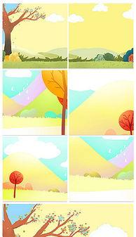 黄色秋天卡通背景图片 黄色秋天卡通背景素材下载 我图网