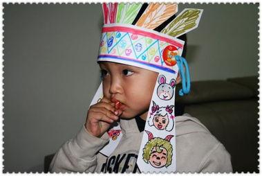 应幼儿园要求自制手工帽子