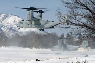 军事视频常用的纯音乐-美军MV-22鱼鹰倾转旋翼机和自卫队的CH-47直升机参与军演.