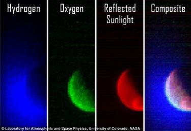 MAVEN探测器的紫外成像摄谱仪在成功完成火星轨道进入8小时后获取...