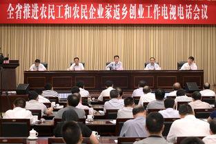 魏宏在全省推进农民工和农民企业家返乡创业工作电视电话会议上强调...