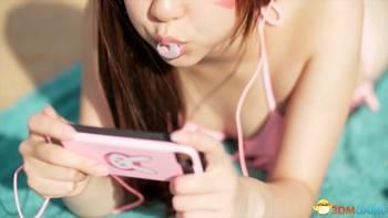 ,超可爱的D.Va穿着粉色比基尼... 76超级帅.   视频截图: