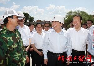 袁纯清同志在忻州调研