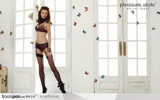火辣辣的漂亮美女图片素材 外国美女模特穿内衣和鞋