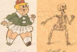 色撸撸漫画-x光片 黑色幽默 卡通人物