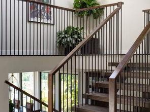 别墅田园楼梯设计图片-2018私人别墅钢结构楼梯图集 房天下装修效果...