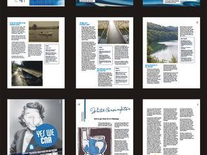 英文杂志样式版面设计画册
